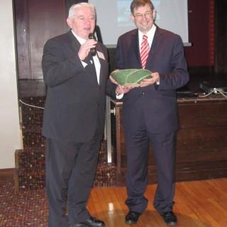John O'Shea and Minister O Cuiv