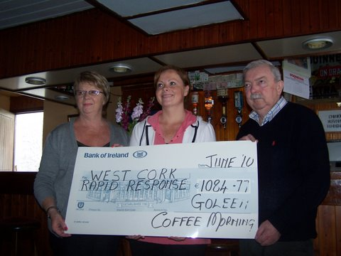 WCRR Lobster Pot Cheque Presentation