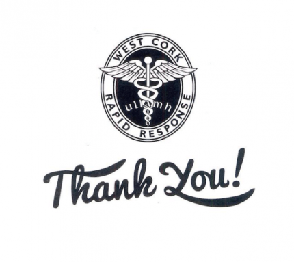 thank you from west cork rapid response